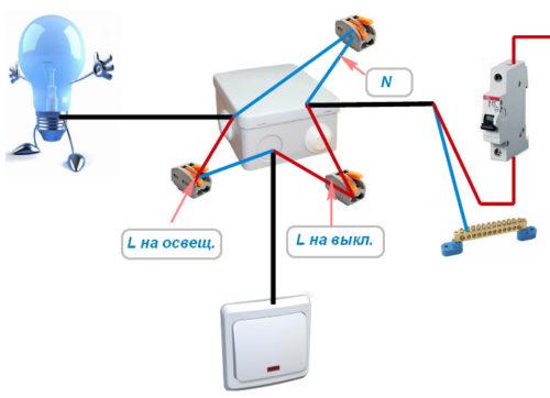 Подключение проводов без заземления (РЕ)