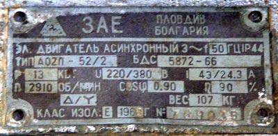 Полная характеристика асинхронного двигателя 4а112мв6уз