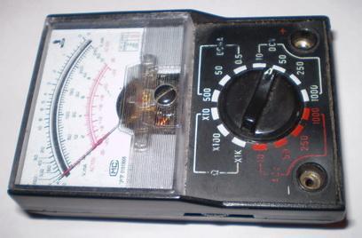Измерение силы тока: тестер