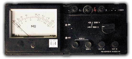 Мегаомметр Ф4102