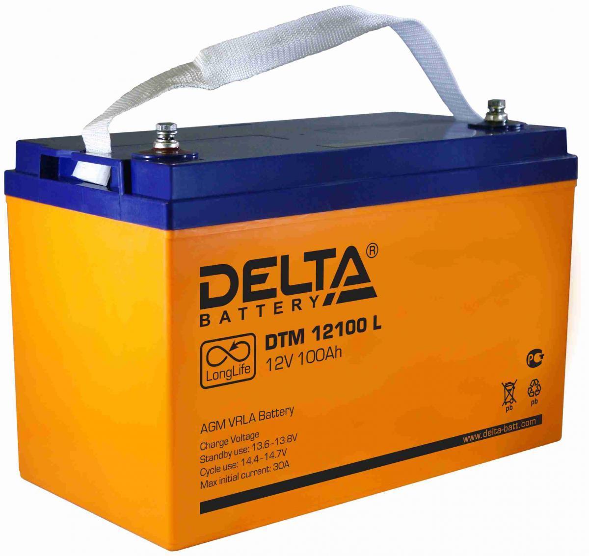 Гелевый аккумулятор Delta серии DTM
