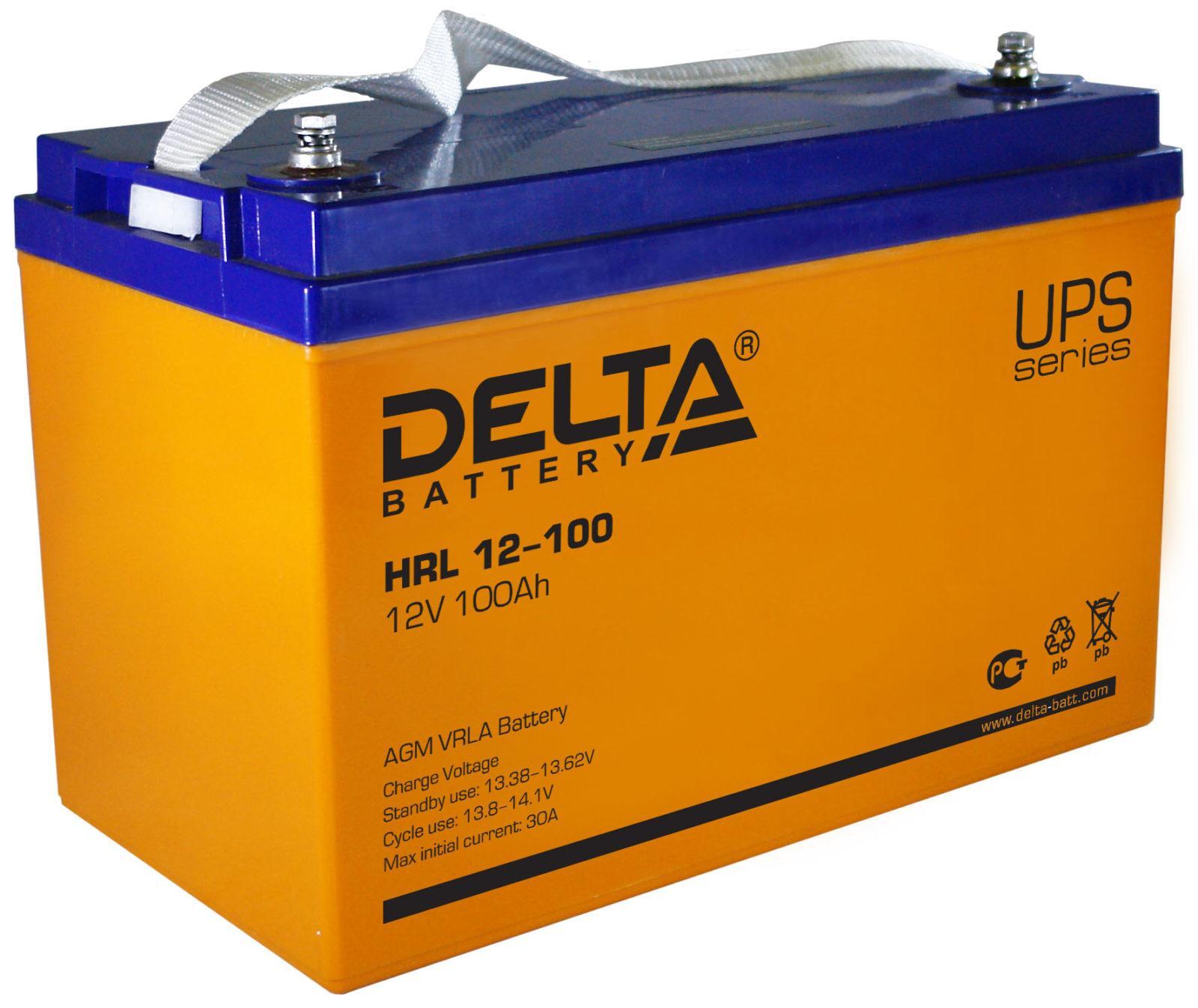 Свинцово-кислотный аккумулятор Delta серии HRL