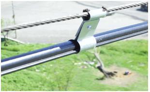 Металлические зажимные пластины с петлями для кабеля и растяжки