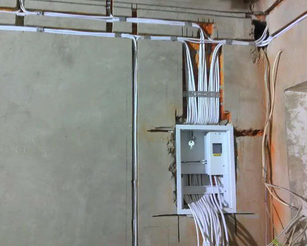схема соединительные электро коробки в панельных домах