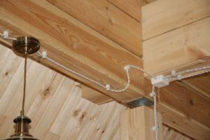 Две жилы провода осветительной сети