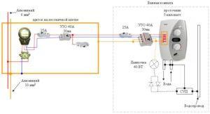 Принципиальная схема подключения водонагревателя к УЗО