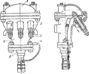 Концевая муфта КМСт для перехода от трехжильного кабеля к воздушной ЛЭП