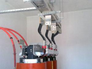 Пример подключения шинопровода на трансформаторной подстанции