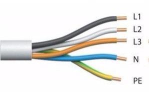 Цвета расключения жил силового кабеля