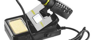 Паяльная установка STAYER 55370 предназначена для пайки проводов и работы с электроникой