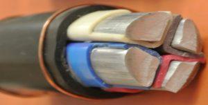 Структура кабеля АВВГ с цельными токоведущими жилами