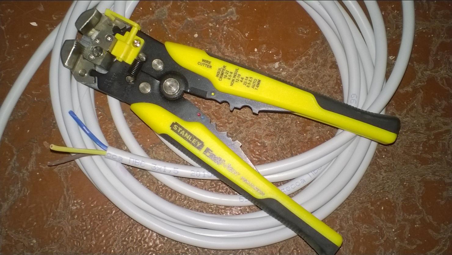Зачистка провода ПВС