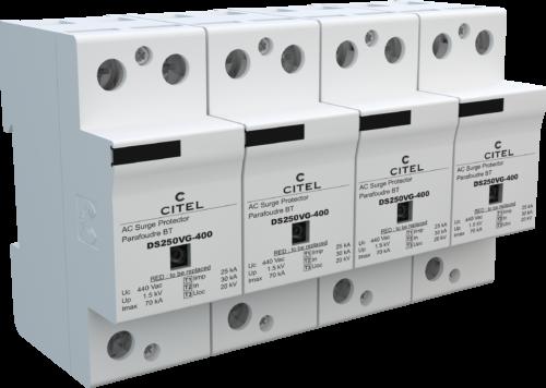 УЗИП 1 класса марки CITEL защищают сеть от опасных напряжений при непосредственном попадании молнии