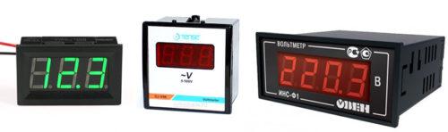 Электронные цифровые вольтметры передают значение измеряемой величины на табло