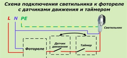 Как правильно подключить фотореле для уличного освещения