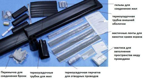 Основные элементы комплекта муфты 4ПТО-1