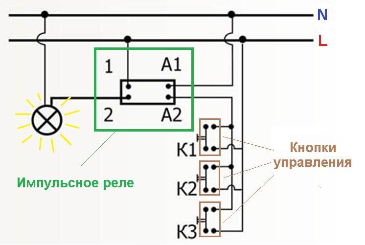 Импульсный датчик схема подключения