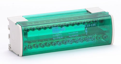 Кросс-модуль на DIN-рейку 2х15 групп 125А марки DEKraft - гарантия немецкого качества