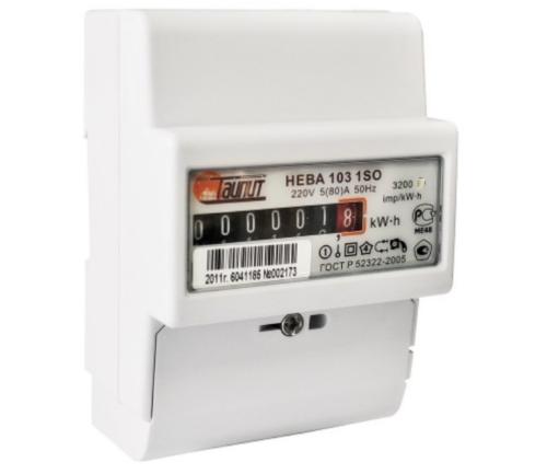 Счетчик электромеханический Нева-103 позволяет снимать показания даже при отсутствии электропитания