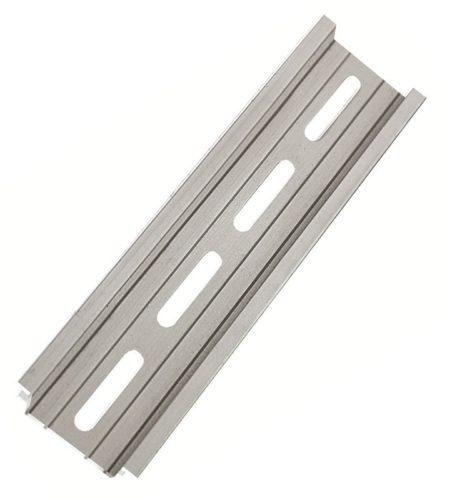 Алюминиевая рейка DIN усиленной конструкции с перфорационными отверстиями для крепления в щитке