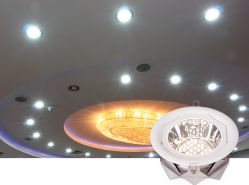 Массивные накладные светильники больше подходят для освещения комнат значительной площади