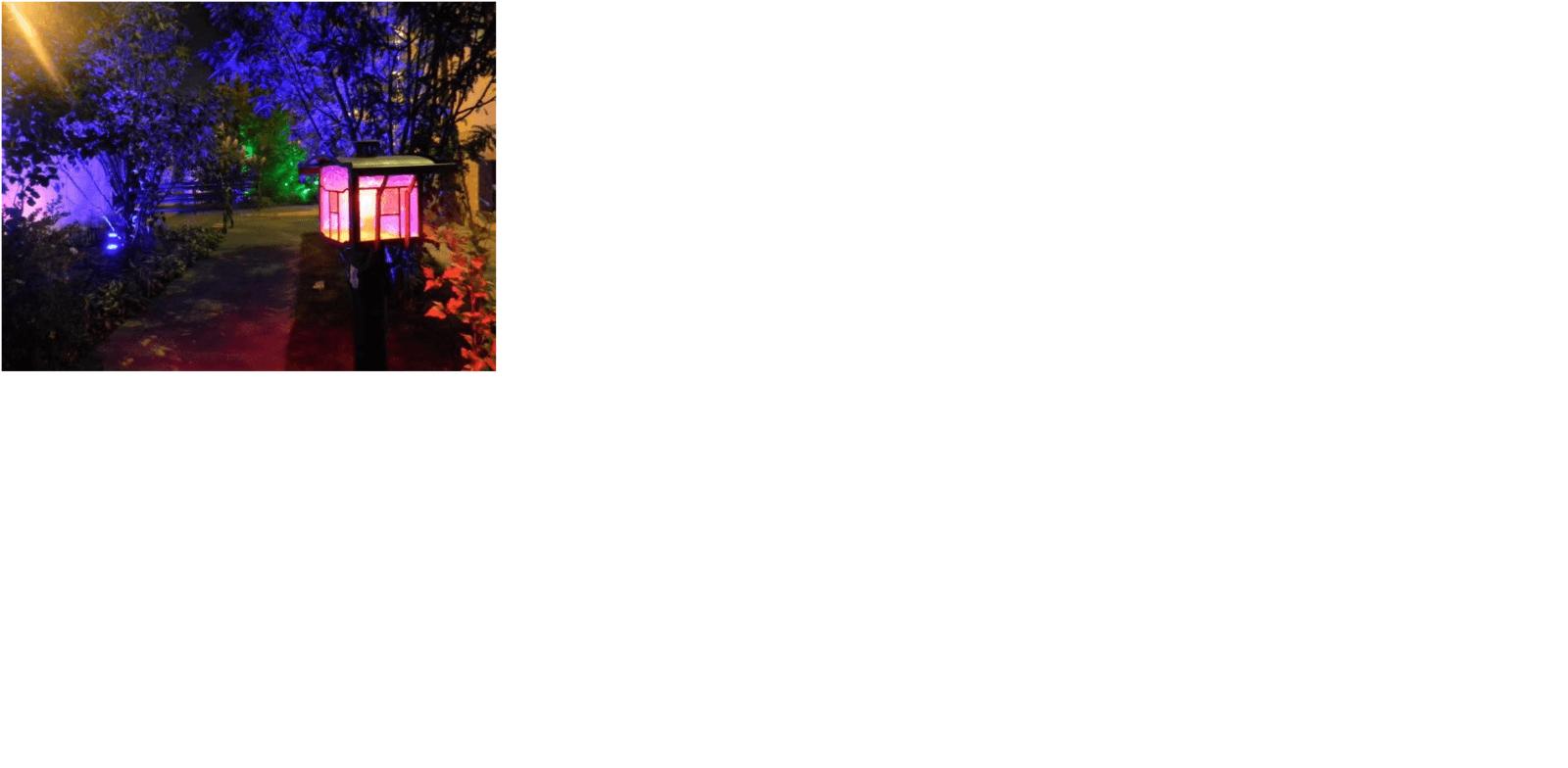 Освещение придомовой территории уличным светодиодным прожектором со встроенным датчиком движения
