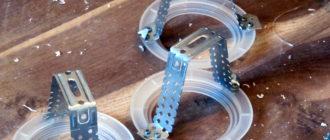 Крепление под светодиодный светильник из П-образного потолочного профиля позволяет установить прибор освещения с максимальной надежностью